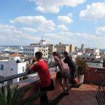 на крыше отеля где любил бывать Хемингуэй